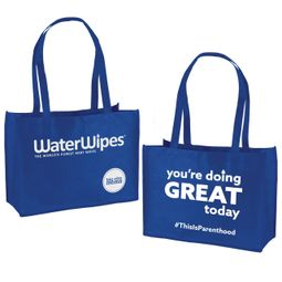 Tote bag compliments of Water Wipes