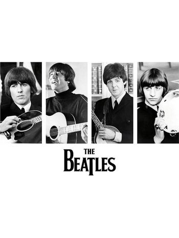 The Beatles Early Portraits Wall Poster