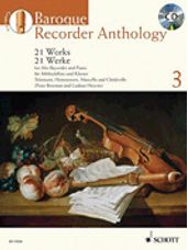 Baroque Recorder Anthology Vol. 3: 21 Works For Treble Rec. With Piano Book/cd