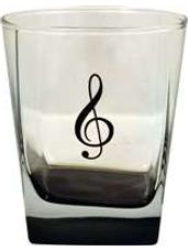 13oz Square G-Clef Glass With Black Tint